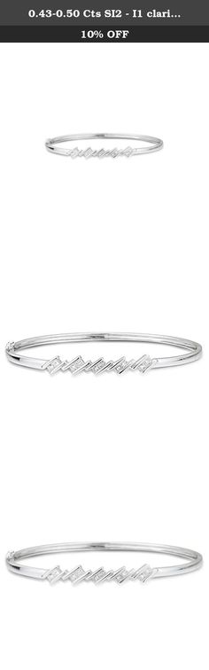 0.43-0.50 Cts SI2 - I1 clarity and I-J color Diamond Bangle in 18K White Gold. This striking Diamond Bangle showcases ten tantalizing princess-cut Diamonds channel set in 18K White Gold. Approximate Diamond Weight: 0.43-0.50 Carats. Approximate Gold Weight: 11.34 Grams. This bangle bracelet is a perfect gift for every occasion.The Diamond is SI2 - I1 clarity and I-J color,METAL:18K Gold,ACTUAL METAL:18K White Gold,RHODIUM:Yes,CLASP:Box Catch with Hidden Safety,HEIGHT:2.26 in,WIDTH:2.51...