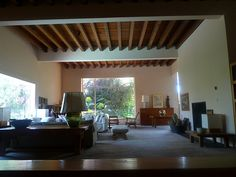 This photo is featured in my book, The Architecture of Luis Barragan which is available for purchase here. Interior Decorating, Interior Design, Built Environment, Living Room Inspiration, Home Living Room, Interior Architecture, New Homes, House Design, 1940s Style