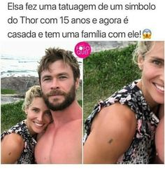 Translation = Elsa tattooed a symbol of Thor at age 15 and is now married and has a family with him! Bts Memes, Funny Memes, Jokes, Stan Lee, Ariana Video, Word Pictures, Nerd Geek, Just Smile, Wtf Funny