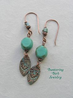 "love Kristi Bowman's copper charms ""colorized"" Bantering Bird Jewelry"