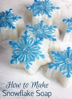 Shimmering Snowflake Melt & Pour Tutorial