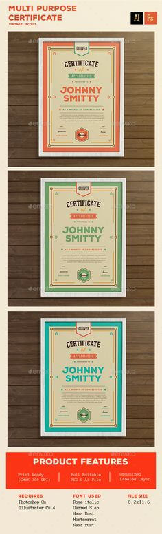 Multi purpose certificate - #Certificates Stationery Download here: https://graphicriver.net/item/multi-purpose-certificate/14204418?ref=alena994