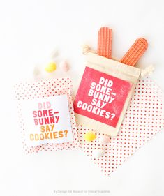 Free Easter Bunny printable treat labels | By Design Eat Repeat at I Heart Naptime