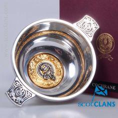 Cochrane Clan Crest Quaich. Free Worldwide Shipping Available