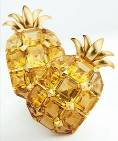 Sold at Christie's Auction, Belperron citrine pineapples,Citrine pineapple clips by Suzanne Belperron, 1940, sold for $63,600 on $21-33k estimate at Christie's Paris June 6