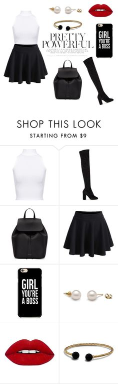 """""""girl you're powerful"""" by moonslight ❤ liked on Polyvore featuring WearAll, Dolce&Gabbana, Mansur Gavriel, WithChic, David Yurman, casual, Girls, black and basic"""