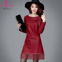 9d22423ea2  37.99 - XL 2XL 3XL 4XL 5XL 6XL Winter plus size padded Women dresses with  Long sleeve.Brand Korean o neck Lace Dress