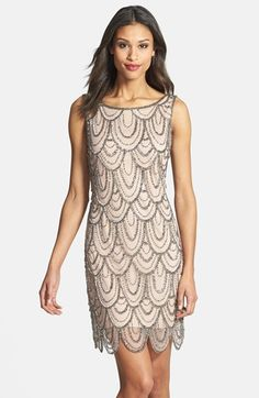 Pisarro Nights Embellished Mesh Cocktail Dress (Regular & Petite) available at #Nordstrom