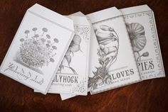 printable seed packets for seed collecting- THE OPULENT POPPY