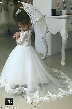 Buy White Lace Appliques A Line Little Girls Dresses Half Sleeves V Neck Flower Girl Dresses in uk. Find the perfect flower girl dresses at FabFba. Our flower girl dresses come in a variety of styles & colors including lace, tulle, purple & gold Vintage Flower Girls, Flower Girl Dresses Boho, Tulle Flower Girl, Little Girl Dresses, Little Girls, Tulle Ball Gown, Tulle Dress, Ball Gowns, Ball Dresses