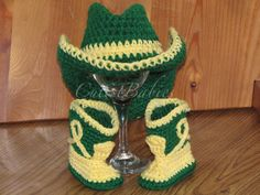 Newborn Baby Crochet Cowboy/Cowgirl Hat & Boots Photo Prop.....