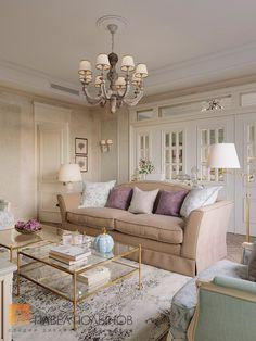 Фото гостиная комната из проекта «Дизайн трехкомнатной квартиры в стиле прованс, ЖК «Привилегия», 133 кв.м.»