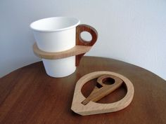 Hidden Popular Items Wooden Paper Cup Holder | Kagamoku's Blog