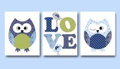 Kids wall art Owl Nursery Owl decor Baby Nursery by artbynataera, $42.00