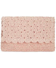 Straw Studios Crochet Crossbody Clutch