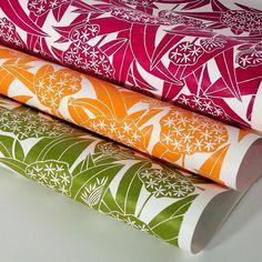 waybreads hand printed wallpaper, ramson designs