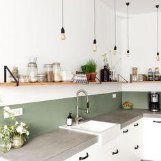 creative small kitchen design and organization ideas 18 ~ Modern House Design Kitchen Interior, New Kitchen, Kitchen Dining, Kitchen Decor, Kitchen Cabinets, Kitchen Sinks, Dining Rooms, Küchen Design, House Design