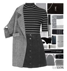 """Ice Skating Style"" by xgracieeee ❤ liked on Polyvore featuring Topshop, N.Peal, Lucky Brand, Yves Saint Laurent, Butter London, Antonym, Nails Inc., Gareth Pugh, Chanel and Jane Iredale"