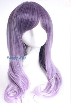 Dusty eggplant ombre curly wig.  high quality wig, made to order by wigglywigs. Explore more products on http://wigglywigs.etsy.com