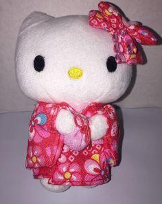"""Sanrio Hello Kitty 5"""" Plush Cat In Kimono 2011 Japanese Toy 3+    eBay"""