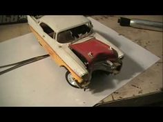 HOW TO MAKE YOUR PLASTIC MODEL CAR JUNKER LOOK LIKE IT WRECKED INTO A TREE OR POLE LESSON 3 - YouTube