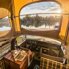 """Good Morning no better feeling than waking up in a westfalia vwbus"