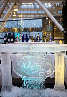 Ice bar, anyone? Perfect for a Winter wedding! At World Trade Center Portland.