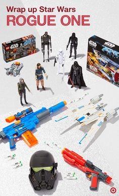 "Who's ready for the big premiere? These gifts are! And you don't have to travel through hyperspace to get them. Experience Rogue One: A Star Wars Story with a voice-changing Imperial Death Trooper mask, Death Trooper blasters, LEGO Hovertank, U-Wing fighter, and 12"" figurines you can only get at Target. Perfect Christmas gift ideas for young Star Wars fans, or any fans who are young at heart."