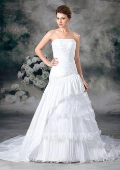 Mermaid Sweep Sleeveless Strapless Tulle Appliques Zipper White Wedding Dresses
