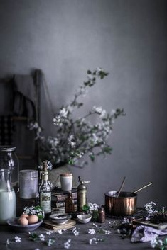 Beautiful styling by Localmilk Local Milk, Prop Styling, Food Photography Styling, Lifestyle Photography, Chocolate Pots, Belle Photo, Food Art, Table Settings, Vegan