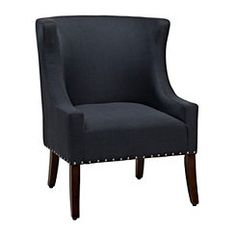 Maggie Navy Nailhead Accent Chair
