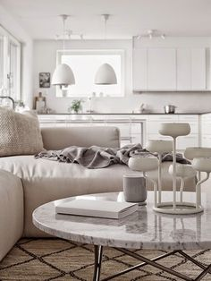 my scandinavian home: Shades of grey and white in a Stockholm space
