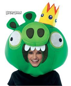 Cloth mascot style head masks of your favorite Angry Birds Be the hit of your…