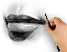 Delineate Your Lips - lips drawing tutorial - How to draw lips correctly? The first thing to keep in mind is the shape of your lips: if they are thin or thick and if you have the M (or heart) pronounced or barely suggested. Drawing Lessons, Drawing Techniques, Drawing Tips, Art Lessons, Cool Drawings, Pencil Drawings, Hair Drawings, Draw Lips, Painting Videos