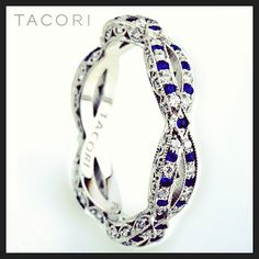 Tacori Ribbon HT2528B with alternating diamonds and sapphires (SO 123647)