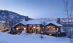 Mountain retreat: Mariah is spending Christmas in this luxury five-bedroom, five-bathroom AirBnB rental