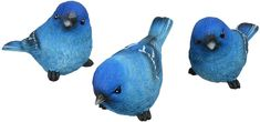 TII Set of 3 Bluebird Resin Figurines, 3.5 Inches, 3 Poses - Richards Expo Metal Walls, Metal Wall Art, American Flag Bunting, Bookshelf Decorating, Copper And Grey, Father And Baby, Ceramic Birds, Blue Bird, House Warming