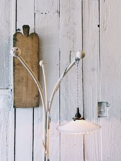 white iron coat rack