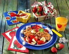 Haferflocken-Quark-Puffer mit Erdbeeren Rezept