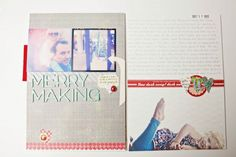 love the idea of printing photos on patterned paper.
