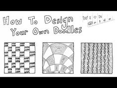(6) How to Doodle Your Own Zentangle Patterns (Part 3: Using Grids) - Step by Step Drawing Tutorial - YouTube