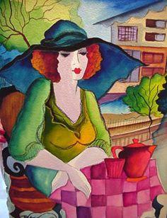 Blue Hat by Patricia Govezensky
