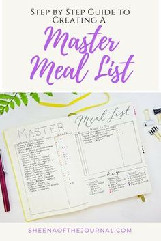 Make planning family dinners easy with a Master Meal List! Here's an easy step by step guide to making your own!