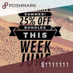 Summer Celebration 25% Off Bundles! Special bundle discount this week only... 25% Off Bundles of 2 or more items!  So many new fresh cuts are easy add ins to save you some dollars!  Promo only runs through June 17. Other