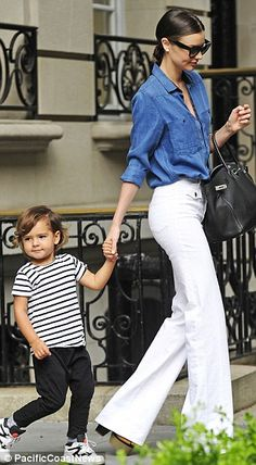 Charlie's Angel: The 31-year-old channeled a retro goddess in the white bell-bottoms and platform heels