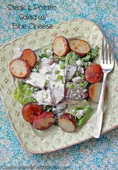 Steak & Potato Salad with Blue Cheese Dressing