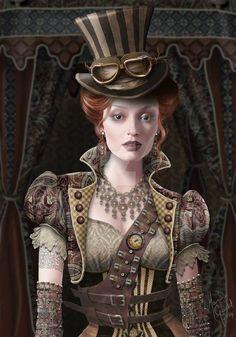 Steampunk by Maxine Gadd Mode Steampunk, Steampunk Cosplay, Victorian Steampunk, Steampunk Clothing, Steampunk Fashion, Gothic Fashion, Victorian Art, Style Fashion, Gothic Art