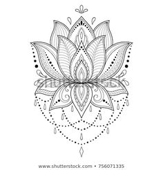 Henna tattoo flower template in indian style ethnic floral paisley lotus mehndi style ornamental pattern in the oriental style 2 mandala compass temporary tattoo mandala tattoo compass tattoo boho gift traveller gift blue tattoo Simple Mandala Tattoo, Dotwork Tattoo Mandala, Mandala Tattoo Design, Henna Tattoo Designs, Lotus Mandala Design, Henna Flower Designs, Lotus Flower Tattoo Design, Design Tattoos, Henna Mandala