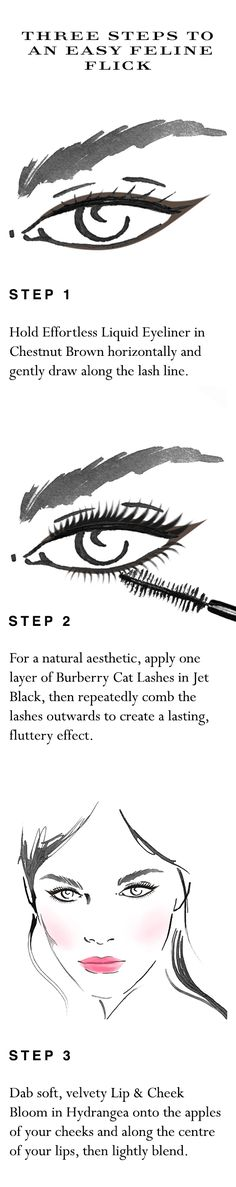 Your easy to follow make-up 'how to' for fast feline flicks in five minutes. Shop the complete look at Sephora.com and explore new Burberry Cat Lashes.
