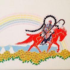 Paul Goble Author Illustrator Matted Art Print Gift of The Sacred Dog Rainbow   eBay